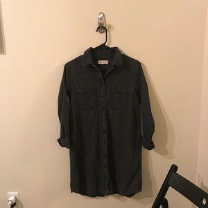 Madewell Black Chambray Buttondown Dress Size XS
